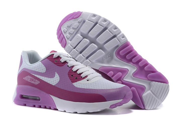 c8766c9f5c Nike Air Max 90 Ultra BR Women Trainers White Fuchsia 725061-101 ...