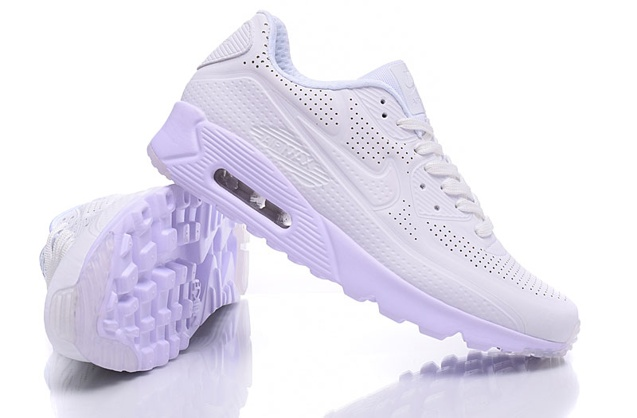 Nike Air Max 90 Ultra Moire Triple White Men Running Shoes Sneakers 819477 111