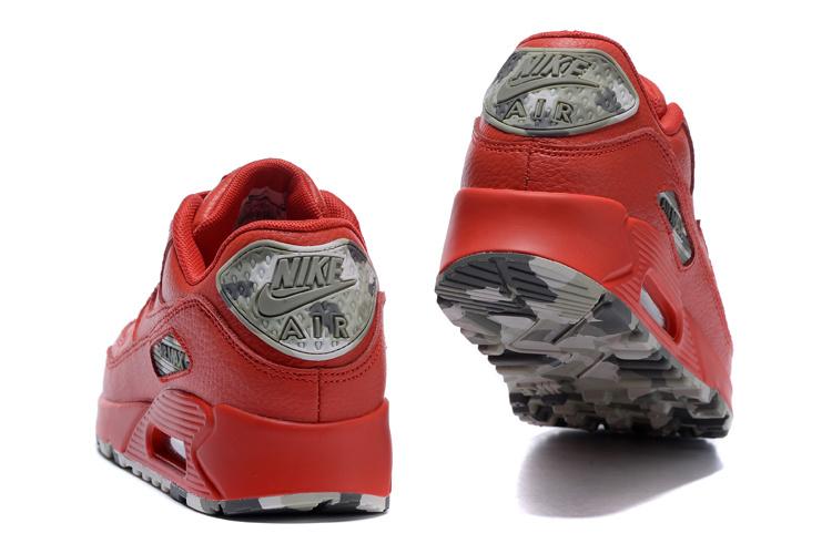 separation shoes 98d73 4b934 ... Nike Air Max 90 QS Men Running Shoes Red Camo Grey Green 813150-105