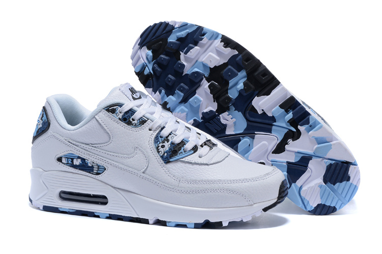 free shipping 6ba42 72c21 Prev Nike Air Max 90 QS Men Running Shoes White Dark Blue Royal Blue Black  813150-. Zoom