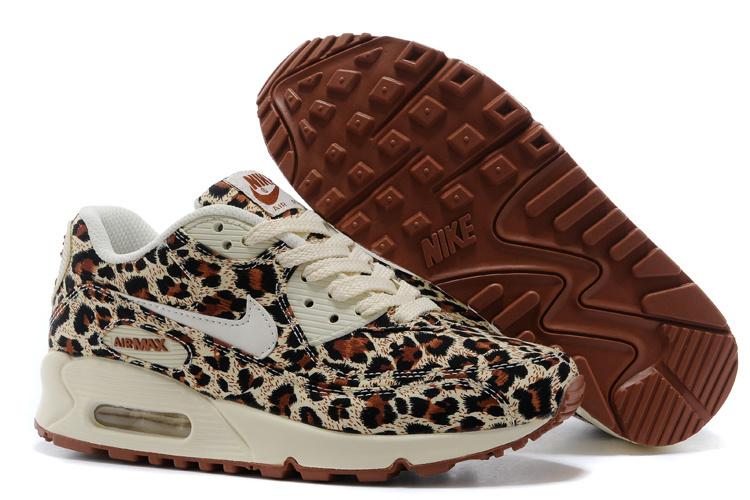 buy online c8e4e fc2c3 Prev Nike Air Max 90 Women Shoes VT QS Le0pard Brown White 813150. Zoom