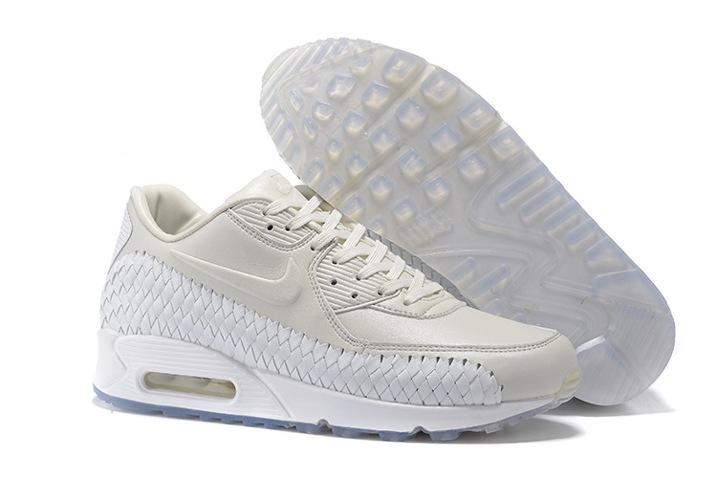 buy online 3d802 1e2f5 Prev Nike Air Max 90 Premium Woven Phantom White Lt Iron Ore Women Running  Shoes 833129-. Zoom. Move your mouse over image or click to enlarge