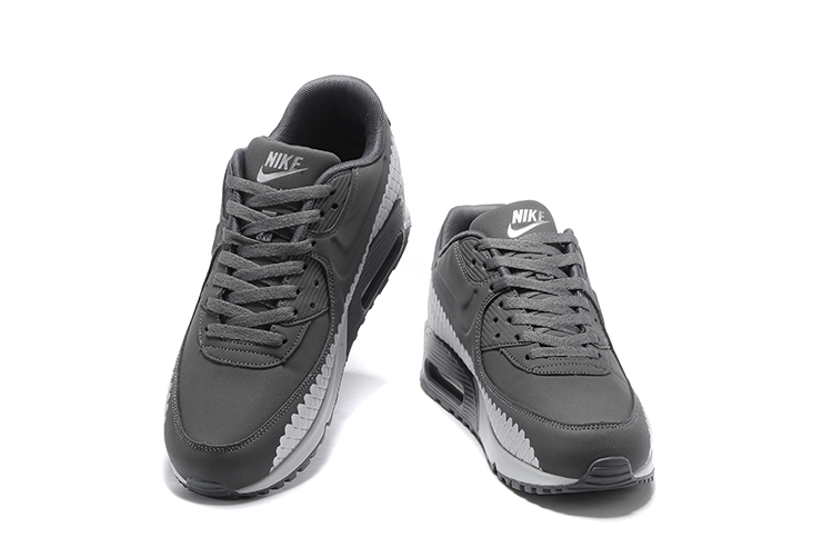 1fc462f715 Nike Air Max 90 Woven Men Training Running Shoes Cool Grey White 833129-009