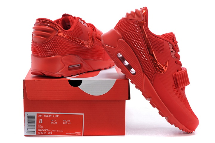 buy online 441ad 1e3a9 ... Nike Air Max 90 Air Yeezy 2 SP Casual Shoes Lifestyle Sneakers All Red  508214- ...