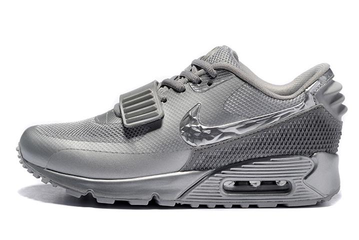 Nike Air 90 Sp Metallic Sneakers Lifestyle 2 608 508214 Yeezy Casual Silver Max Shoes XZTuOPki