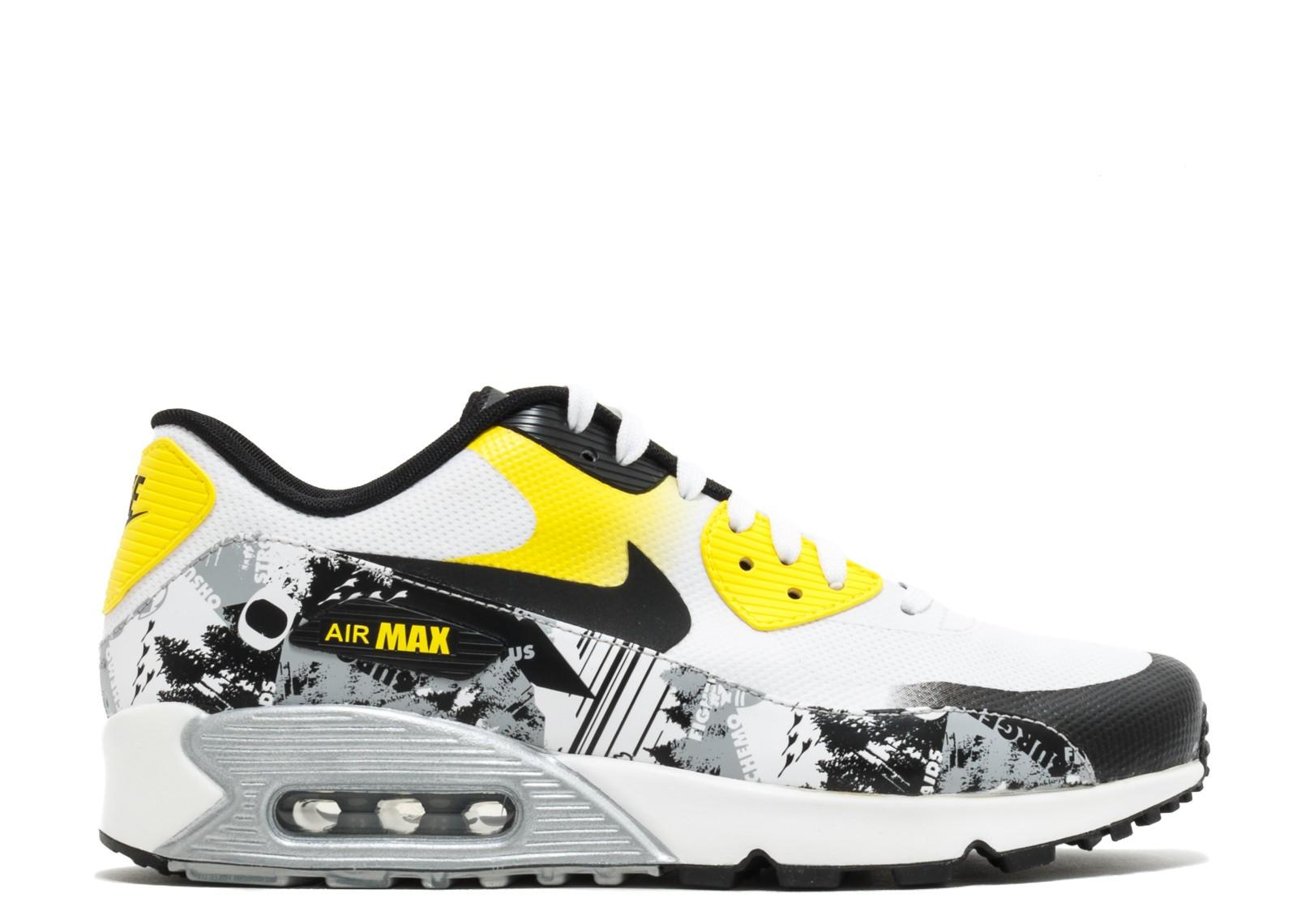 50128d15f49 Nike Air Max 90 Premium Db Doernbecher Dynamic White Black Yellow ...