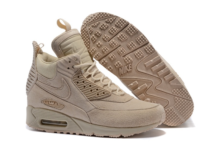 buy popular 9d454 4bc96 Prev Nike Air Max 90 Sneakerboot Winter Suede All Rice White 684714-021.  Zoom
