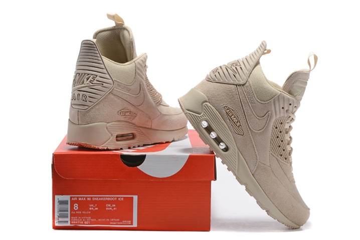 detailed look 9c630 43c02 ... Nike Air Max 90 Sneakerboot Winter Suede All Rice White 684714-021 ...