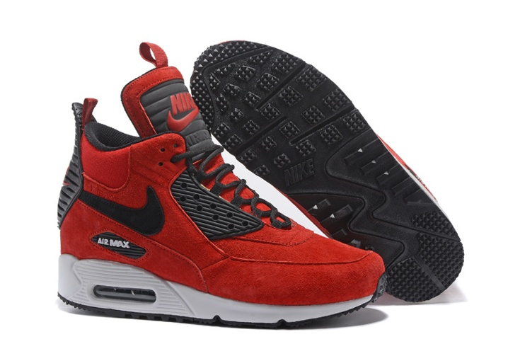 newest 81917 079e1 Prev Nike Air Max 90 Sneakerboot Winter Suede Red Black 684714-018. Zoom