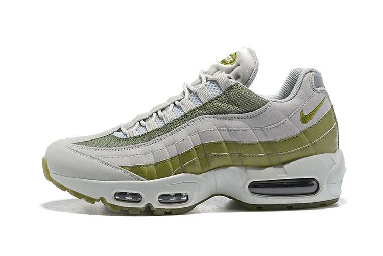 897b39f635 Nike Air Max 95 Men Running Shoes Grey Green - Febbuy