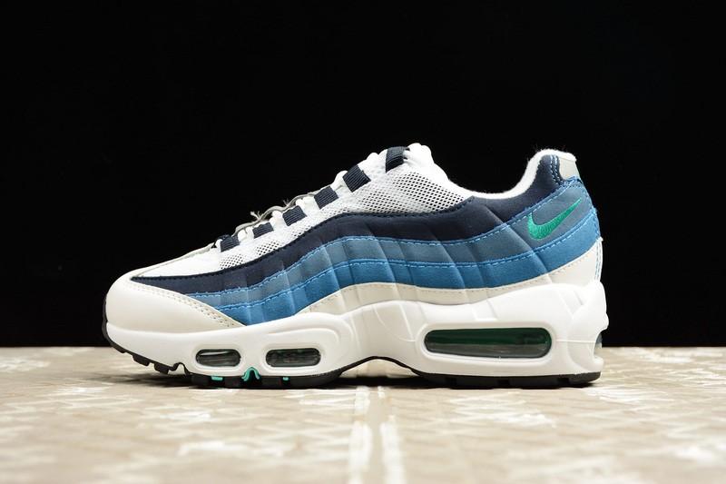 10ea75ee0f Nike Air Max 95 OG Black Blue Neon Grey 307960-100 - Febbuy
