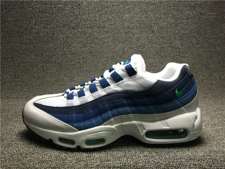 premium selection 6a0bd 87825 Nike Air Max 95 OG White Emerald Green Court Blue New Slate 554970 ...