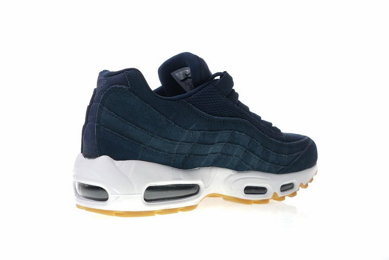 Nike Air Max 95 Premium Armory Navy Blue Fox Sneakers 538416-402 ... 6c90a754f