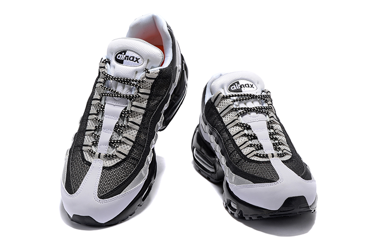 Nike Air Max 95 Pure Black White Silver Men Running Shoes Sneakers . c32e84820