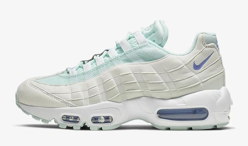 0a74b8dee0 Nike Air Max 95 Teal Tint Summit White Royal Pulse 307960-306 - Febbuy