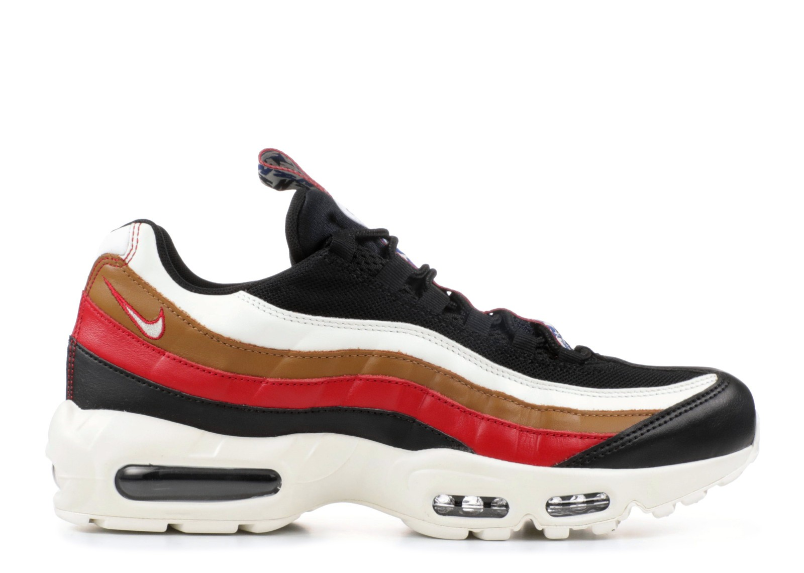 218de2d34e68 Nike Air Max 95 Tt Prm Pull Tab Brown Sail Gym Ale Black Red AJ4077 ...