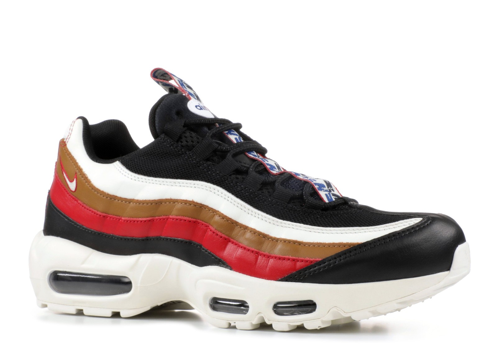f32993a395 Nike Air Max 95 Tt Prm Pull Tab Brown Sail Gym Ale Black Red AJ4077- ...