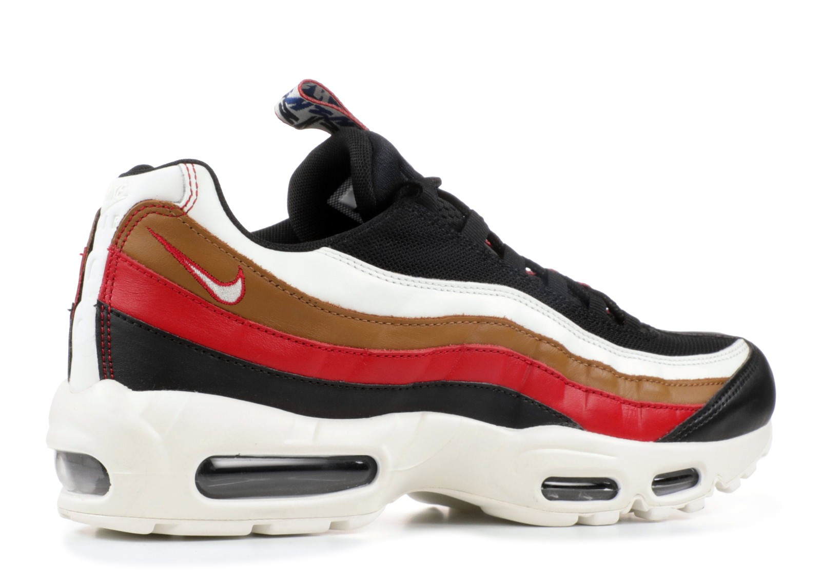 7d12ecda5b ... Nike Air Max 95 Tt Prm Pull Tab Brown Sail Gym Ale Black Red AJ4077- ...