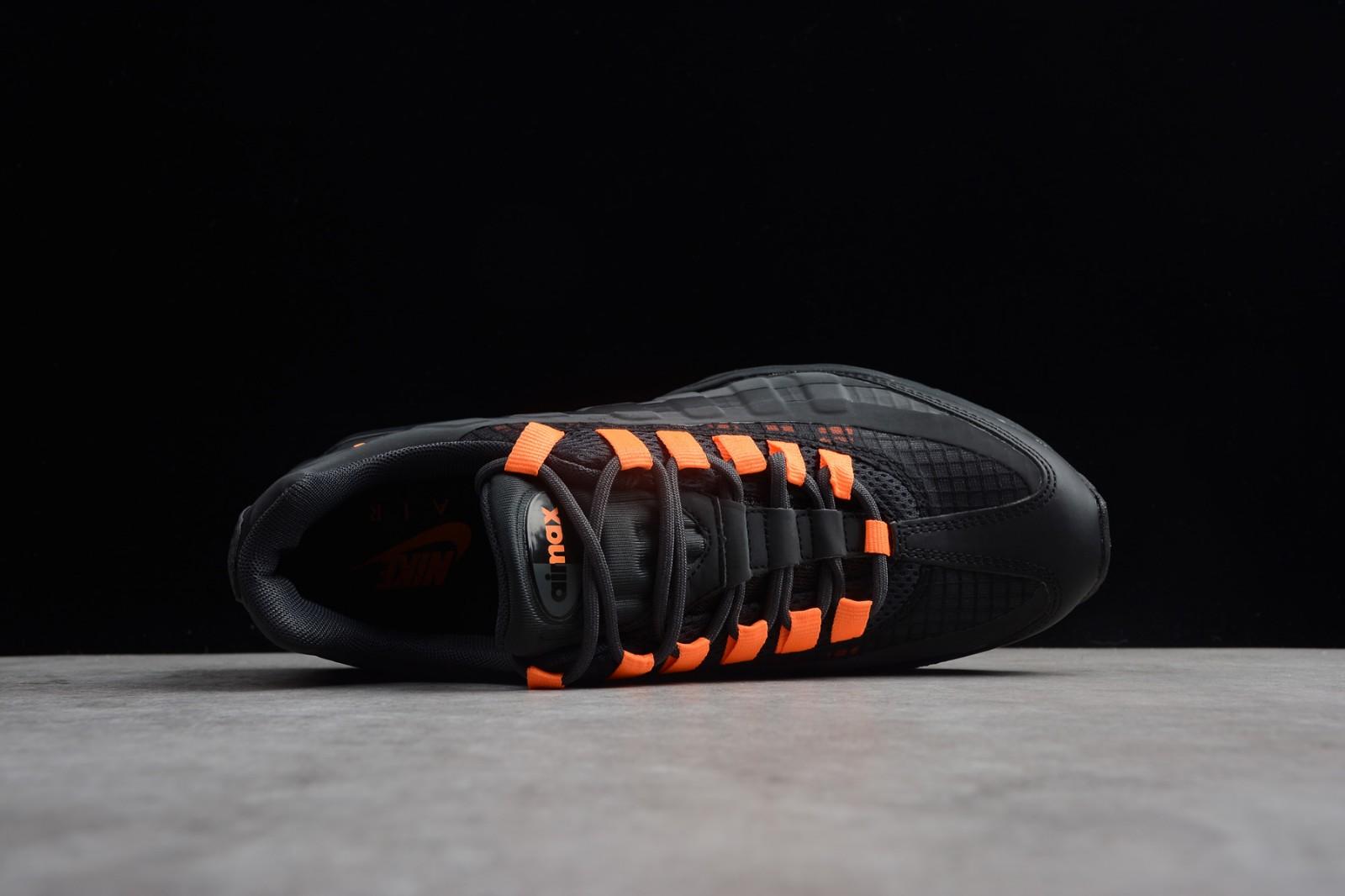 a3e4f8d71bf Nike Air Max 95 Ultra SE Black Total Orange AO9566-001 - Febbuy