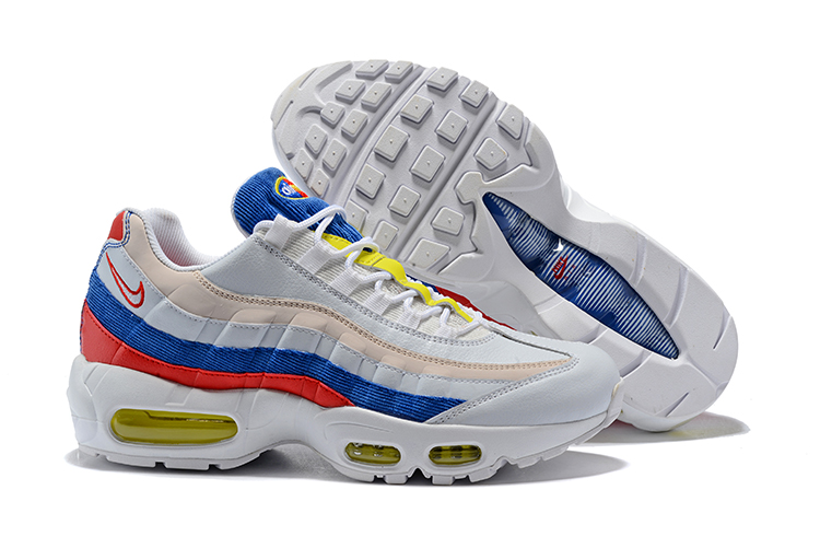 wholesale dealer 8eb7c b83af Prev Nike Air Max 95 Unisex Running Shoes Light Grey Blue Orange