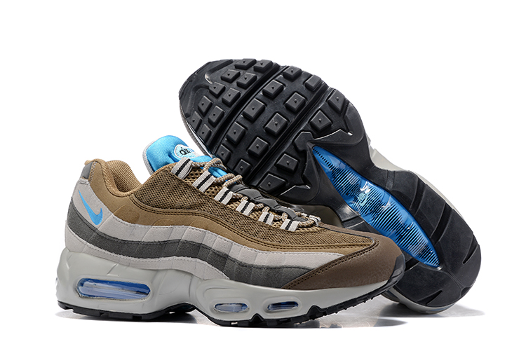 best service f8c57 9ef9c Prev Nike Air Max 95 Wolf Grey Brown Blue Men Running Shoes Sneakers  Trainers 749766-203