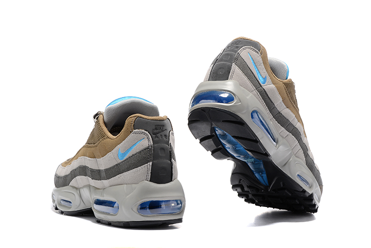 156cff91cd ... Nike Air Max 95 Wolf Grey Brown Blue Men Running Shoes Sneakers  Trainers 749766-203