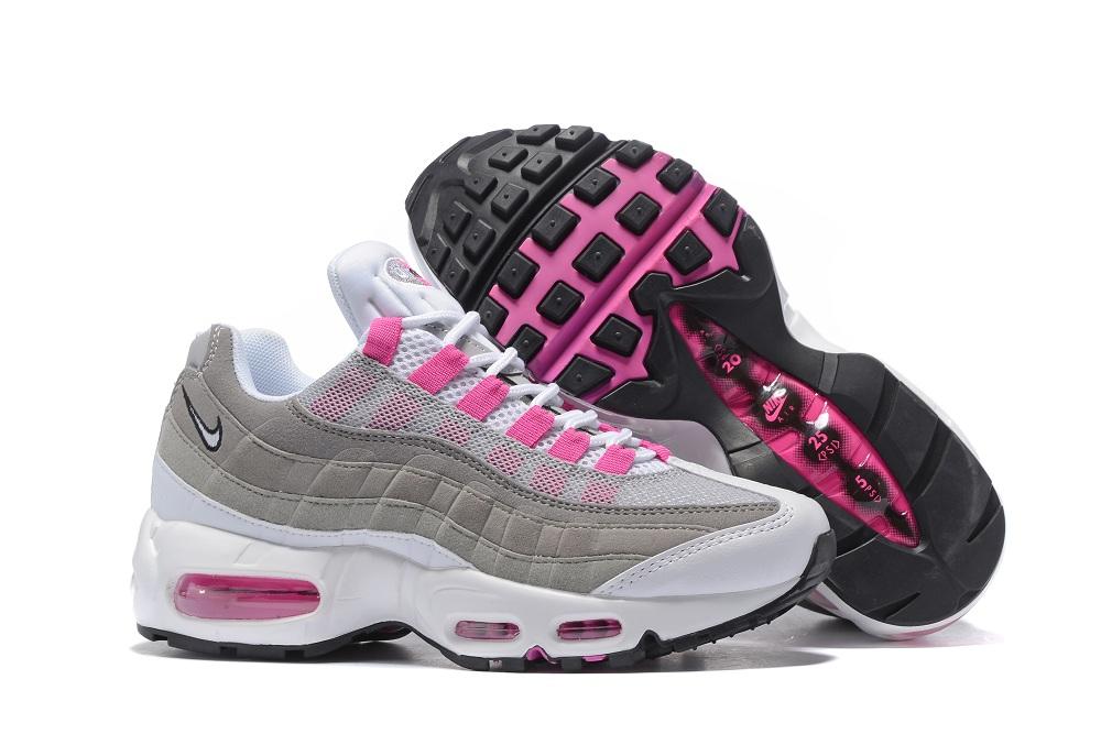 new styles 10582 560b0 Prev Nike Air Max 95 20th Anniversary Gray White Pink Women Shoes. Zoom