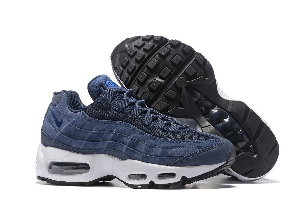 Nike Air Max 95 20th Anniversary Navy Blue White Women Shoes