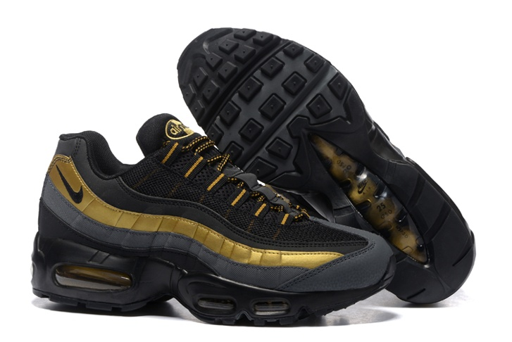 new styles 6c7bb fbe04 Nike Air Max 95 PRM Black Metallic Gold Anthracite Bronze 538416-007