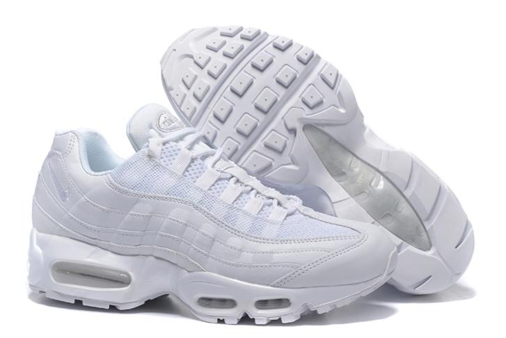 Nike Air Max 95 White Men Shoes Pure White 649048 109 Febbuy