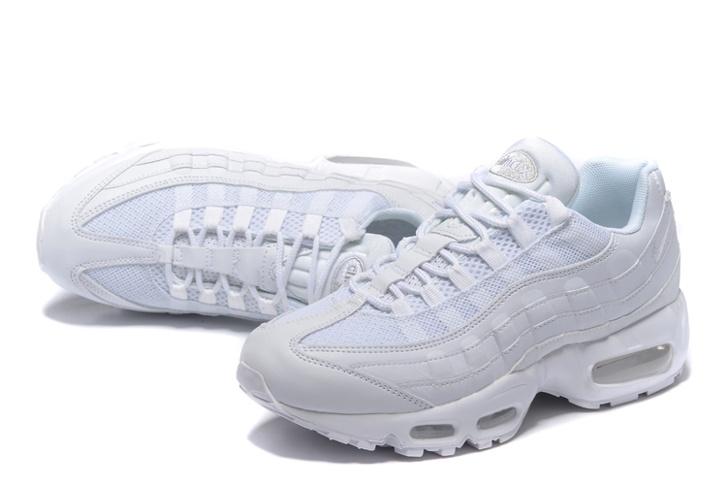 online retailer 1a566 b08c7 Nike Air Max 95 White Men Shoes Pure White 649048-109