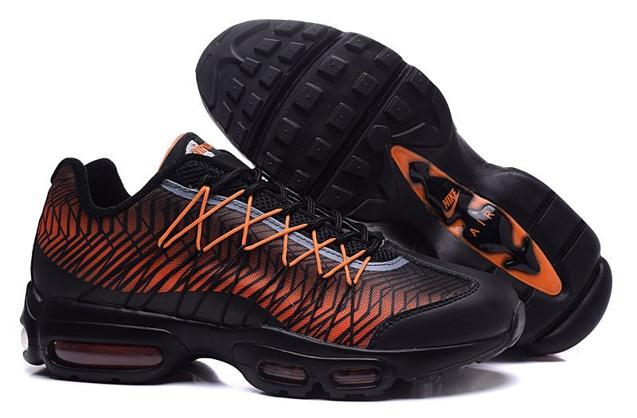 NIKE Air Max 95 Ultra JCRD Black Orange Running Sneaker 749771-008 ... 4dee2b8ff