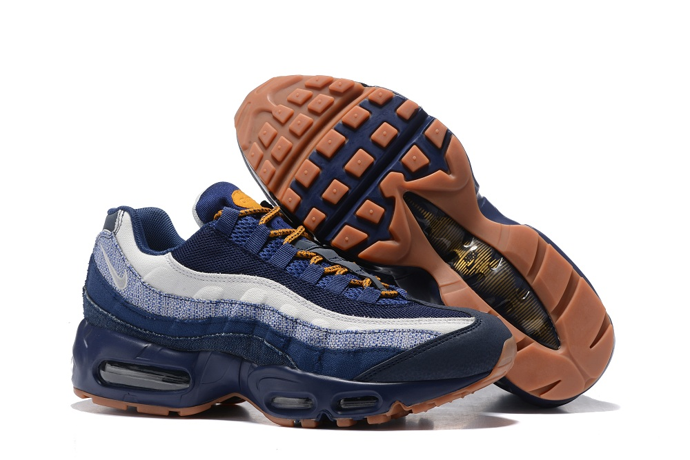 brand new 80024 c85f0 Prev Nike Air Max 95 Essential White Navy Blue Yellow Men Shoes 749766. Zoom