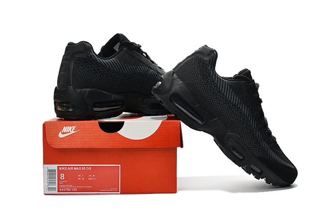 414c490e2 Nike Air Max 95 Jacquard All Black Men DS Running Shoes 644793-100 ...