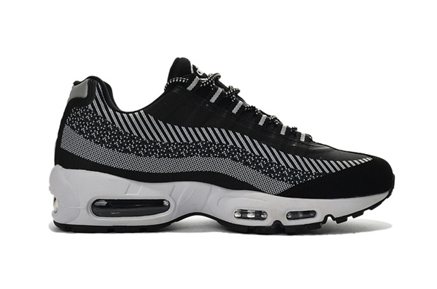 first rate 884a7 66b84 ... Nike Air Max 95 Jacquard Wolf Grey Black White Men DS Running Shoes  644793-010 ...