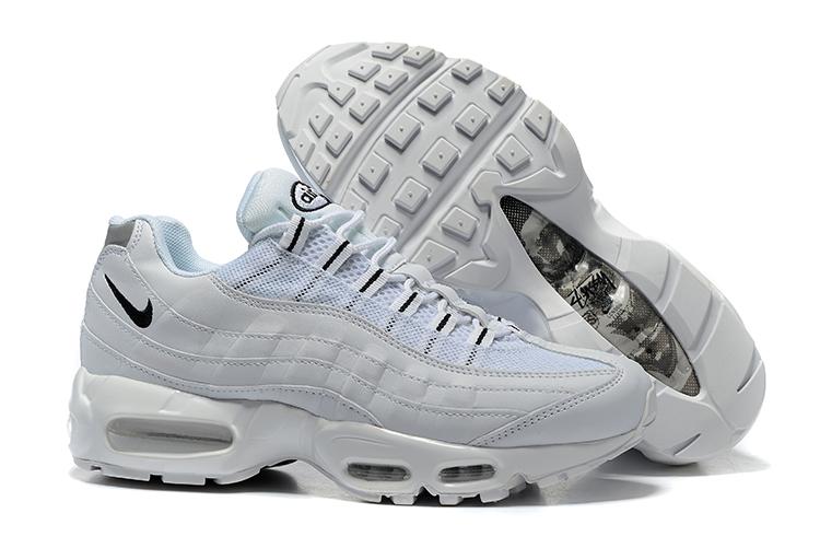 4635d620e6862 Nike Air Max 95 White Black OG QS Stussy Men Shoes 609048-109 - Febbuy