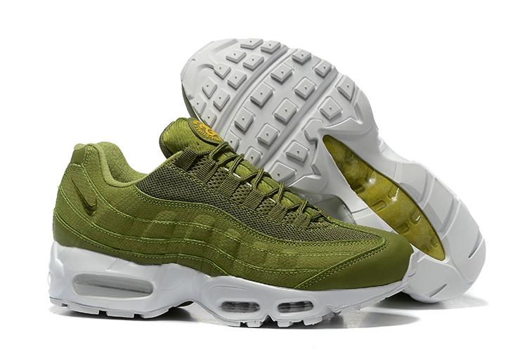 Nike Air Max 95 x Stussy Dark Olive Green Men Running Shoes