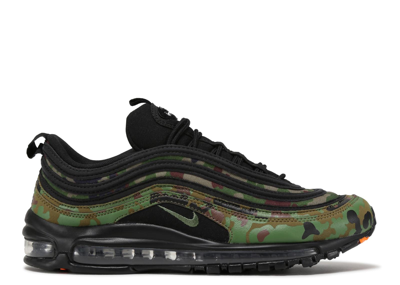 Comfortable Nike Air Max 97 Premium QS Country Camo Pack Medium Olive Black Dark Army AJ2614 200 Men's Footwear Running Shoe