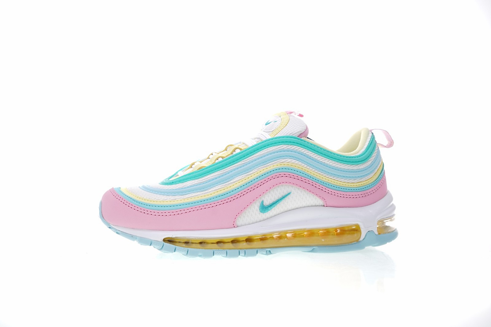 new style 4fffc 1af54 Nike Air Max 97 Pink White Yellow Green Candy Colorful Rainbow Shoes ...