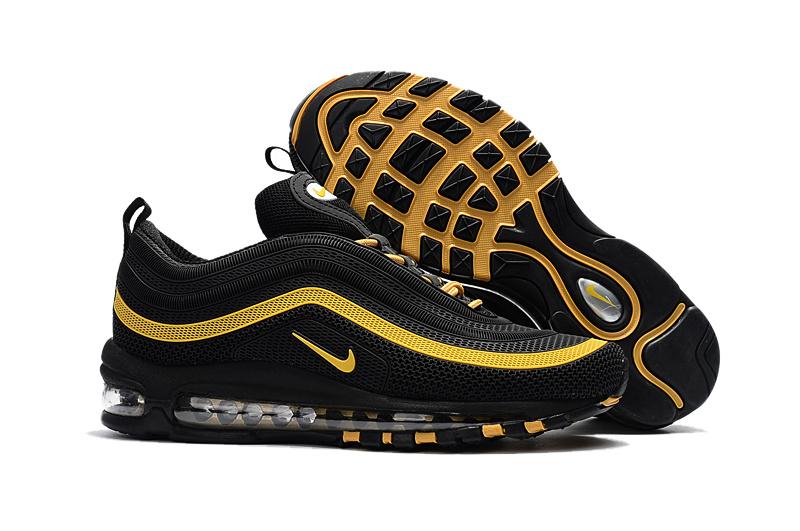 78e0295886 Nike Air Max 97 Plastic drop black and gold KPU TPU Men Running Shoes  624520-007