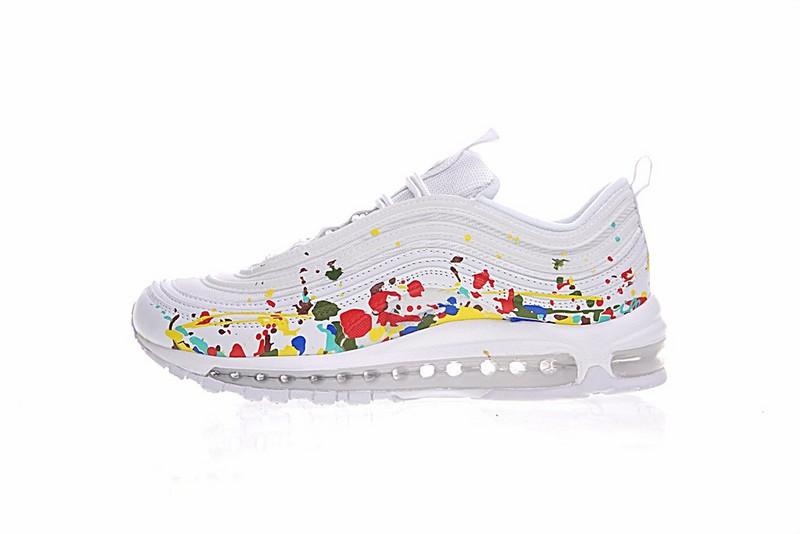 6fbc29ff20 Nike Air Max 97 Premium White Multi Color Sneakers 921826-202 - Febbuy