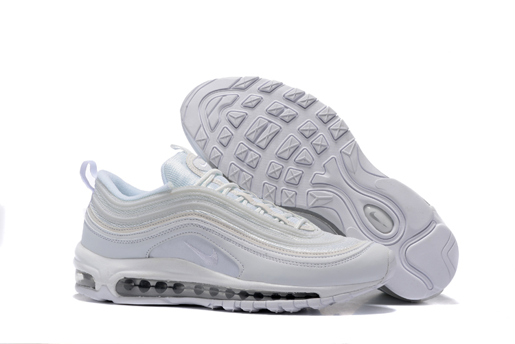 c7e3c9e023 Nike Air Max 97 Pure White Silver Men Running Shoes Sneakers ...