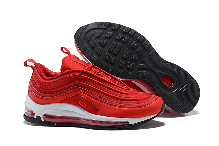 c0acf8d069c7dd Nike Air Max 97 Unisex Running Shoes Chinese Red All White - Febbuy