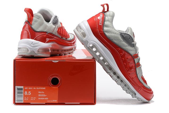 NikeLab x Supreme Air Max 98 Red Reflect Silver White