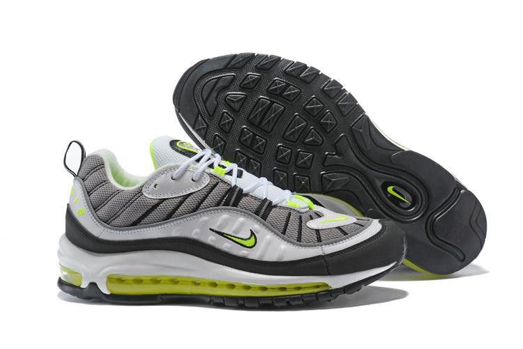 d5777e30d0 Prev Nike Air Max 98 Men Running Shoes White Black Green. Zoom