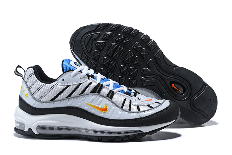e30bd0cae52a Prev Nike Air Max 98 OG Black White Tour Yellow Navy Airmax Mens Shoes NIB  640744-