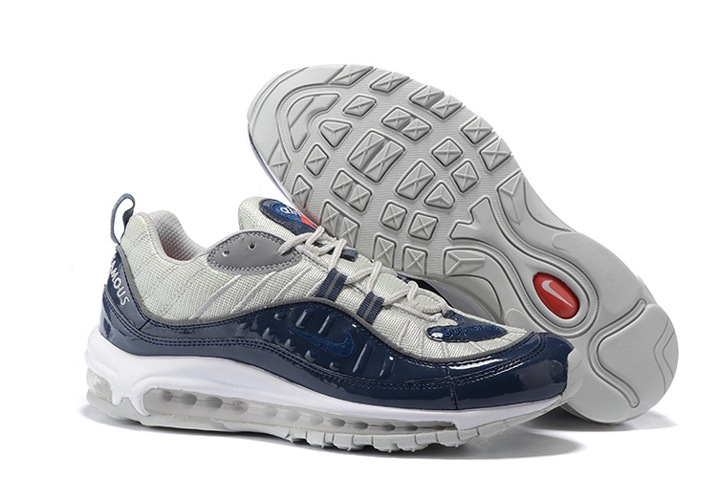 low priced ad3be 35fe8 Prev Nike Air Max 98 Supreme Men Shoes Obsidian Reflective Silver White  844694-400