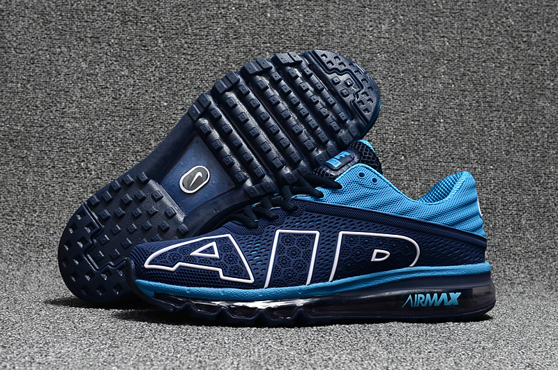 9ebcebdf0d Nike Air Max Flair 2017 Running Shoes AIR KPU Men Deep Blue Light ...