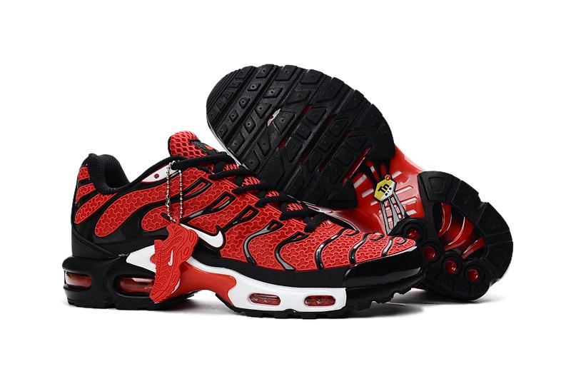 77100bd67e9 Nike Air Max Plus TXT TN KPU Black Red Men Sneakers Running Trainers ...