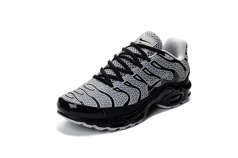 393b50469e ... nike air max plus txt tn kpu black white men sneakers running trainers shoes  604133